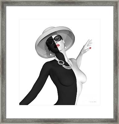 Pearled Framed Print by Barbara Milton