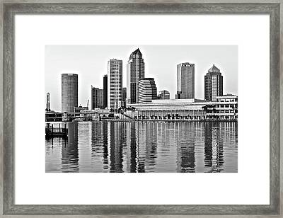 Black And White In The Heart Of Tampa Bay Framed Print