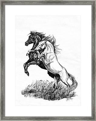 Black And White Framed Print by Jana Goode