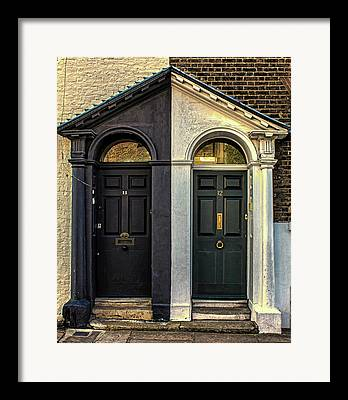 Glass Doors Framed Prints