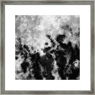 Black And White Minimalist Abstract Painting Framed Print by Ayse Deniz