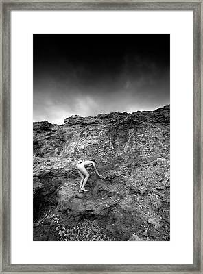 Black And White Nude 029 Framed Print by Manolis Tsantakis