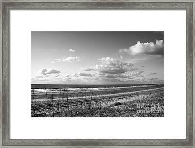 Black And White Ocean Scene Framed Print