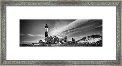 Black And White Of Big Sable At Sunset Framed Print by Todd Bielby