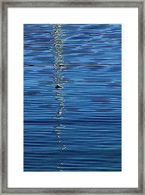 Black And White On Blue Framed Print
