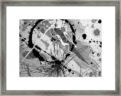 Black And White One Framed Print