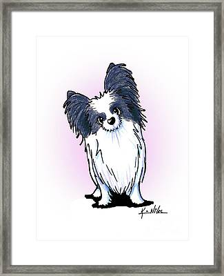 Black And White Papillon Framed Print by Kim Niles