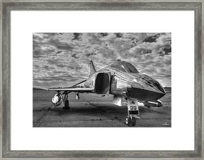 Black And White Phantom Framed Print
