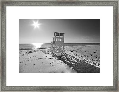 Black And White Photography The Beach Framed Print by Dapixara Art