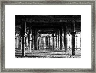 Black And White Pier Framed Print by Martin Newman