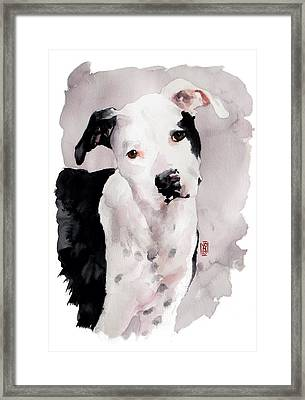 Black And White Pit Framed Print by Debra Jones