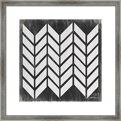 Black And White Quilt Framed Print