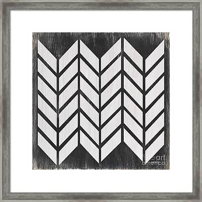 Black And White Quilt Framed Print