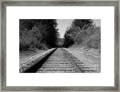 Black And White Railroad Framed Print by Michael Waters