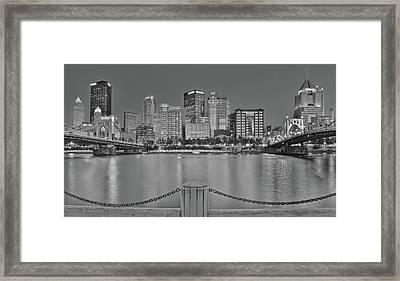 Black And White Riverfront 2017 Framed Print