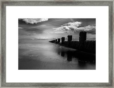 Black And White Seascape Framed Print by Martin Newman