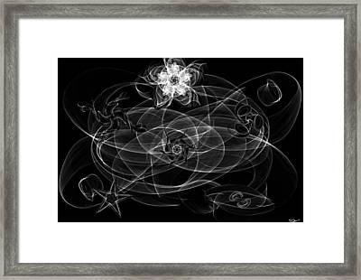 Black And White Sigil Magick Framed Print