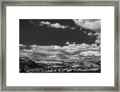 Black And White Small Town  Framed Print