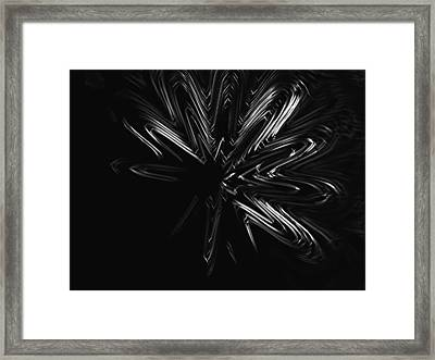 Black And White Start Framed Print by Contemporary Art