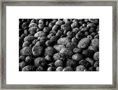 Black And White Stones Two Framed Print