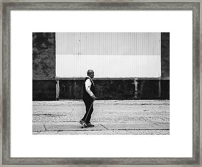 Black And White Street Photography Framed Print by Dylan Murphy