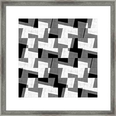 Black And White Study Framed Print