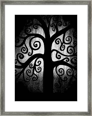Black And White Tree Framed Print by Angelina Vick