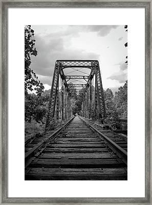 Black And White Trestle Framed Print