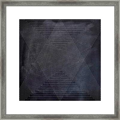 Black And White Triangular Line Art Framed Print