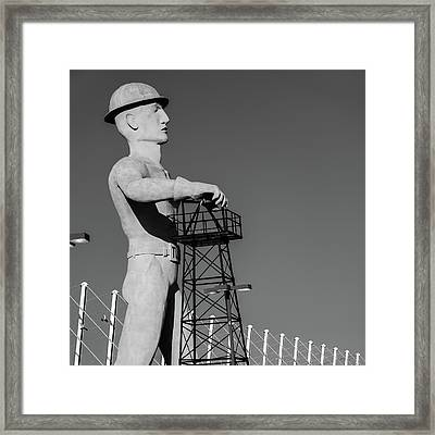 Framed Print featuring the photograph Black And White Tulsa Driller - Oklahoma by Gregory Ballos