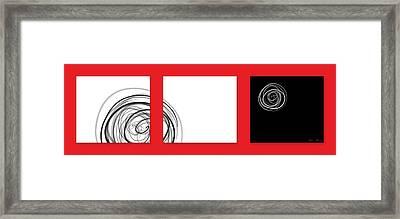 Black And White Twirl  Framed Print by Nomi Elboim