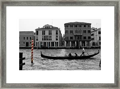 Black And White Venice Framed Print