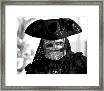 Black And White Venice Framed Print by Simona  Mereu