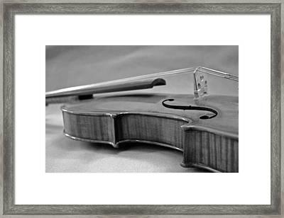 Black And White Violin Framed Print