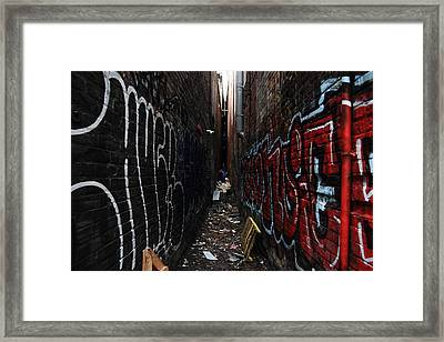 Black And White Vs. Colour Framed Print by Kreddible Trout