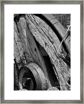 Black And White Wagon Wheel 1 Framed Print
