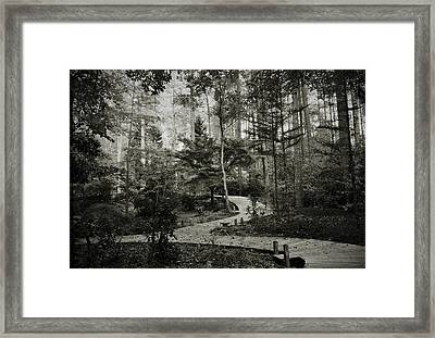 Black And White Vintage Edit -walk In Peace  Framed Print