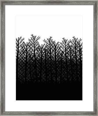 Black And White Winter Trees Framed Print