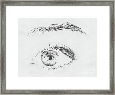 Black And White Woman Eye Framed Print