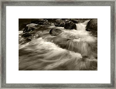 Black And Whitewash Framed Print by Kevin Munro