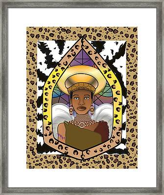 Black Angel Framed Print