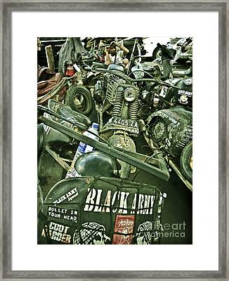 Black Army Framed Print by Charuhas Images