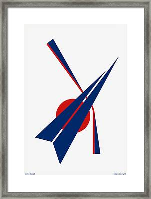 Black Arrow Framed Print by Asbjorn Lonvig