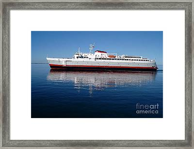 Framed Print featuring the photograph Black Ball Ferry by Larry Keahey