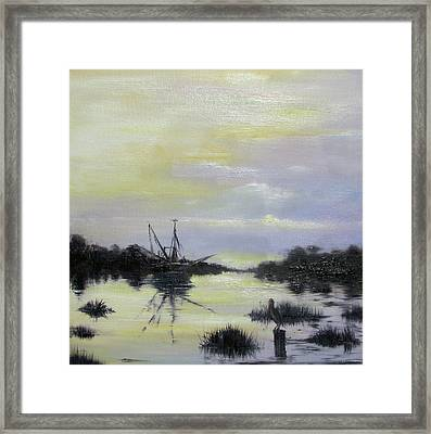 Black Bayou Framed Print by Judy Merrell
