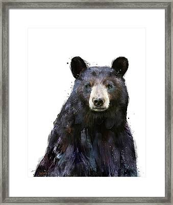 Black Bear Framed Print by Amy Hamilton