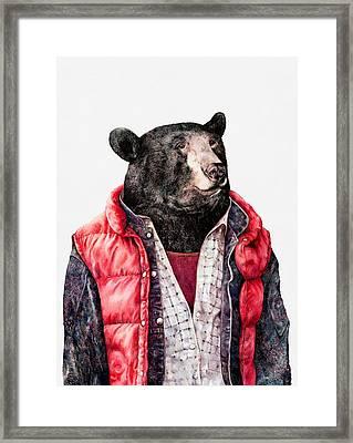 Black Bear Framed Print by Animal Crew