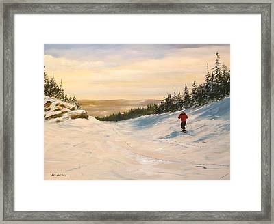 Black Bear Framed Print by Ken Ahlering