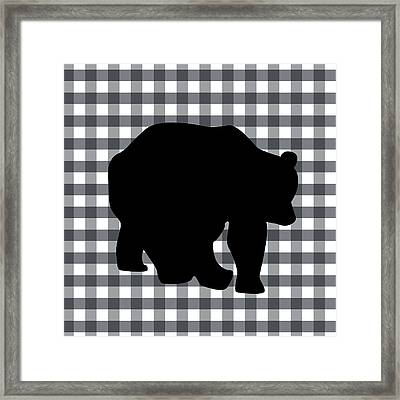 Black Bear Framed Print by Linda Woods