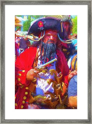Black Beard Pirate Framed Print by Garry Gay